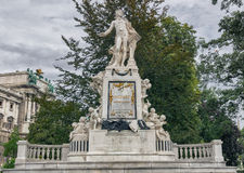 Mozart Monument on a cloudy autumn day Royalty Free Stock Image