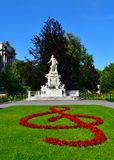 Mozart Monument Vienna Imagens de Stock