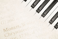 Mozart piano Stock Images