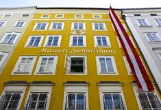 Mozart's Birth House Royalty Free Stock Image
