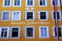Mozart's birthplace Stock Photo