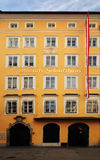 Mozart's birthplace in Salzburg. Austria Royalty Free Stock Photography