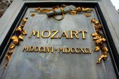 Mozart-` s Statue Lizenzfreie Stockfotos