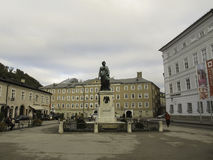 Mozart statue Stock Photos
