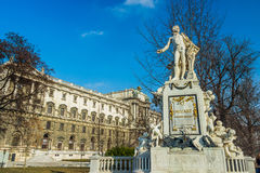 Mozart statue in the Burggarten in Vienna Royalty Free Stock Image
