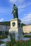 Mozart statue in Mozartplatz, Salzburg, Austria Stock Image