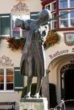 Mozart-Statue in Str. Gilgen, Österreich Lizenzfreie Stockfotografie