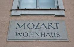Mozart Wohnhaus, Salzburg Stock Photos