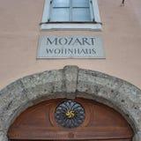 Mozart Wohnhaus, Salzburg Stock Photography