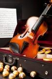 Mozartkugeln und Mozarttaler Stockfotografie
