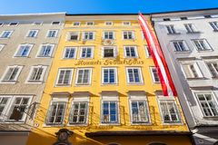 Mozarts birthplace geburtshaus, Salzburg Royalty Free Stock Photography