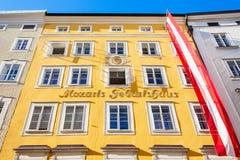 Mozarts birthplace geburtshaus, Salzburg Stock Photos