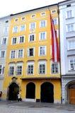 Mozarts Geburtshaus在萨尔茨堡,奥地利 免版税库存图片