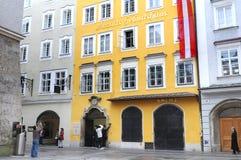 Mozarts Geburtshaus w Salzburg, Austria Obraz Royalty Free