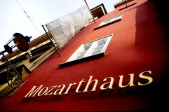 Mozarts hus Arkivbilder