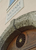Mozarts-Wohnsitz in Salzburg, Österreich Stockbild
