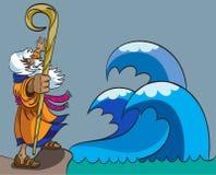 Mozes en Rode Overzees Stock Afbeelding