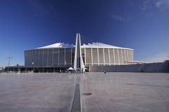 Mozes Mabhida Stadium, FIFA, de Kop van de Wereld 2010   Stock Afbeeldingen