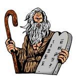 Mozes Tien de wet van Bevelen Stock Afbeeldingen