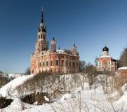 Mozhaisk克里姆林宫 诺沃Nikolsky大教堂在冬天 库存照片