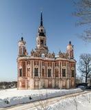 Mozhaisk Kremlin Novo-Nikolsky katedra w zimie Fotografia Stock