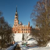 Mozhaisk Kremlin Novo-Nikolsky katedra w zimie Fotografia Royalty Free