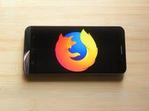 Mozilla Firefox app royalty-vrije stock afbeelding