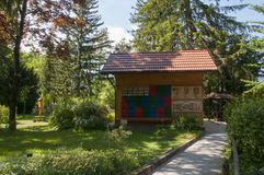 Mozirje, Eslovênia - 5 de maio de 2014: Colorido tradicional e imagem Fotos de Stock