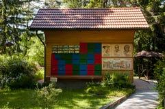 Mozirje, Eslovênia - 5 de maio de 2014: Colorido tradicional e imagem Fotos de Stock Royalty Free