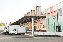 MOZYR, ΛΕΥΚΟΡΩΣΊΑ - 22 Σεπτεμβρίου 2011: Συνδυάστε για το γάλα επεξεργασίας Μηχανές, μηχανισμοί και εξοπλισμός Στοκ εικόνες με δικαίωμα ελεύθερης χρήσης