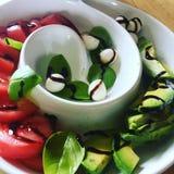 Mozza y tomate Foto de archivo libre de regalías