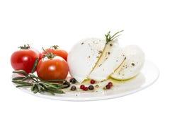 Mozzarella avec l'épice Photographie stock