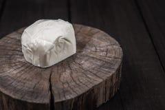Mozzarella branco Foto de Stock