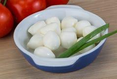 Mozzarella cheese balls Royalty Free Stock Photography