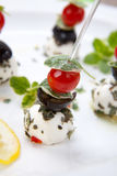 Mozzarella Cheese canape Stock Image
