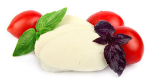 Mozzarella cheese with cherry tomatoes Stock Photography