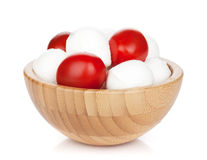 Mozzarella cheese with cherry tomatoes Royalty Free Stock Photos