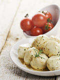 Mozzarella Cheese And Cherry Tomatoes Royalty Free Stock Photo