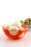 Mozzarella cheese served Royalty Free Stock Photo