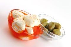 Mozzarella cheese served Stock Photography