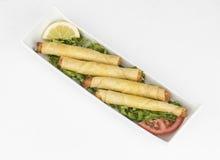 Mozzarella cheese sticks. Mozzarella sticks appetizers isolated on white background Royalty Free Stock Image