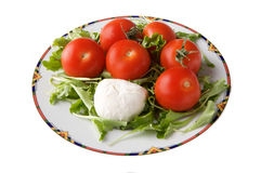 Mozzarella cheese and tomato Stock Photos