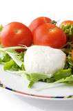 Mozzarella cheese and tomato Stock Photography
