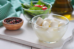 Mozzarella cheese Stock Photo