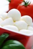 Mozzarella and cherry tomatoes Stock Photo