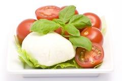 Mozzarella and cherry tomatoes Royalty Free Stock Image
