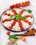 Mozzarella, chicken and tomatoes. Italian food Stock Image