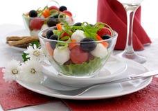 Mozzarella dell'insalata Fotografie Stock