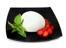 Mozzarella di Bufala, Frischkäse, italienisches Milchprodukt Lizenzfreies Stockfoto