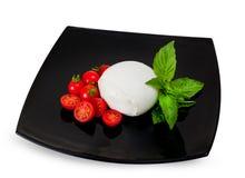 Mozzarella di Bufala, Frischkäse, italienisches Milchprodukt Lizenzfreie Stockfotos